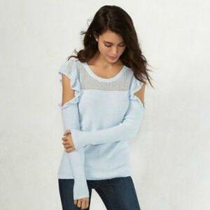 LC Lauren Conrad Cold Shoulder Long Sleeve